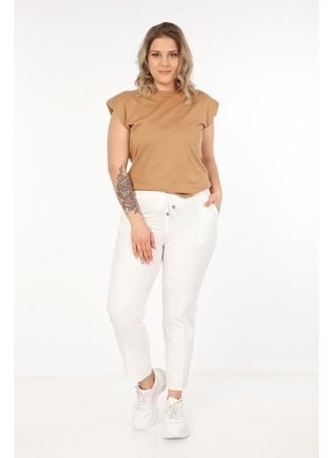 Womenice Pantolon Beyaz